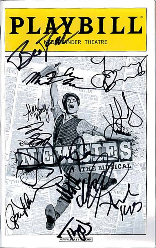 Image result for signed newsies playbill